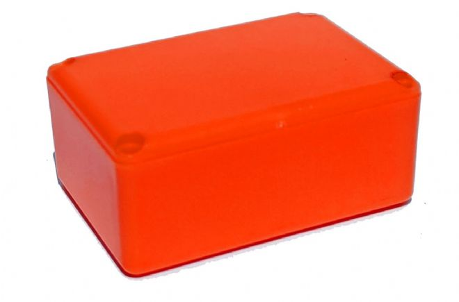 ABS Small Project Box: 64mm x 44mm x 25mm (MDRX2009 ORANGE)